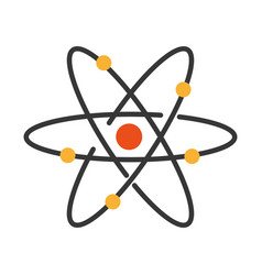 Atom molecule isolated icon vector