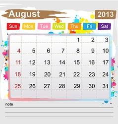 Calendar august 2013 vector