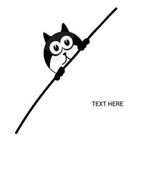 cat cartoon silhouette vector image