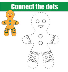 connect the dots children educational game vector image