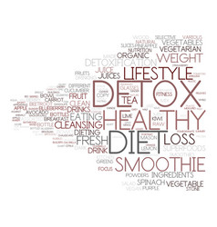 Detox diet word cloud concept vector