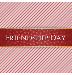 Friendship day red realistic ribbon vector