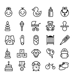 Icons set baby and accessories vector image vector image