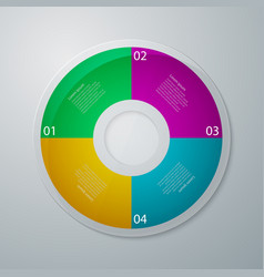 Infographics circle vector