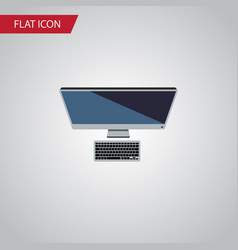 Isolated personal computer flat icon pc vector