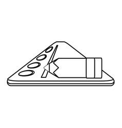 Isolated ruler cartoon vector