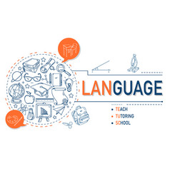 language icons collection design vector image