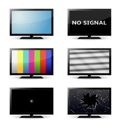 lcd tv set vector image vector image