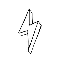 Lightning bolt hand drawn doodle vector