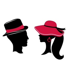 Man and woman silhouettes vector image vector image
