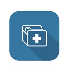 Medical records icon flat design vector