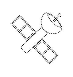 Satellite sign black dashed vector