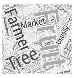 Selling at Farmers Markets Word Cloud Concept vector image