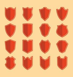 Shield color icon set vector
