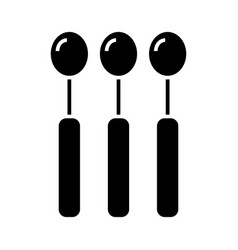 spoon icon black sign on vector image vector image