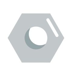 Steel nut icon isolated on white vector image