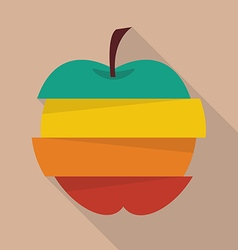 Step design of four part apple vector