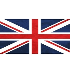 True proportions united kingdom flag with texture vector