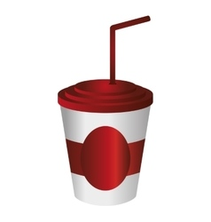Soft drink disposable cup icon vector