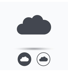 Cloud icon data storage technology sign vector