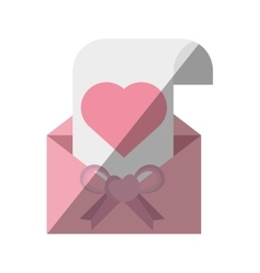 beautiful card invitation wedding paper heart vector image