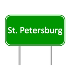 St petersburg road sign vector