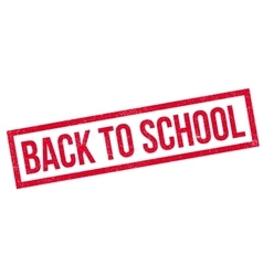 Back To School rubber stamp vector image