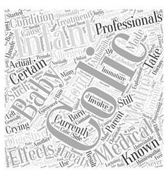 Colic baby word cloud concept vector
