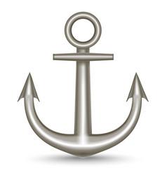 realistic single metal anchor vector image
