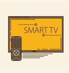 Watch tv movie design vector