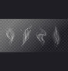 Fluid cigarette smoke on a dark background vector