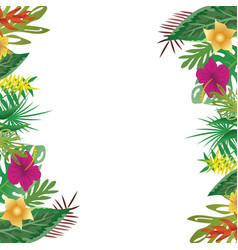 floral and leaves of summer with copy space vector image