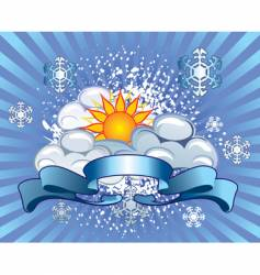 Symbols of the weather winter vector