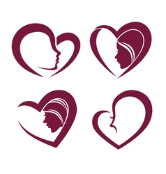 Beauty and hearts vector