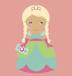 Cute girl princess vector