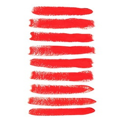 Red acrylic brush strokes vector