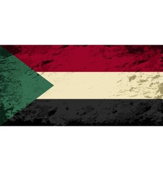 Sudanese flag grunge background vector
