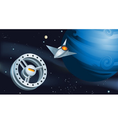 space station vector image