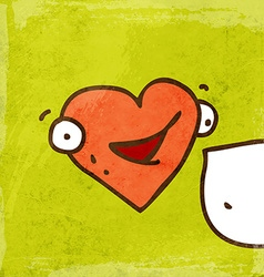 Talking love heart cartoon vector
