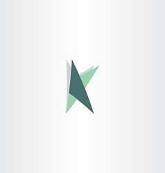 Letter k logotype with triangles icon vector
