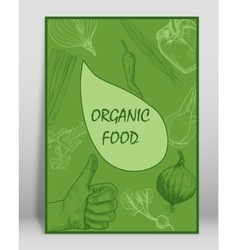 Organic food brochure for design vector
