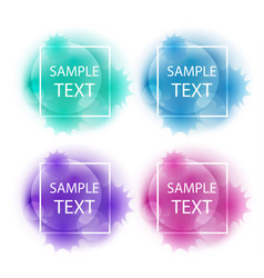 abstract elements for design vector image vector image