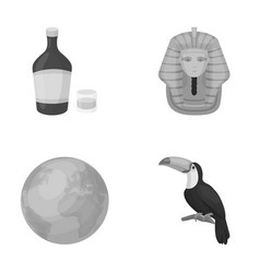 Alcohol earth and other monochrome icon in vector