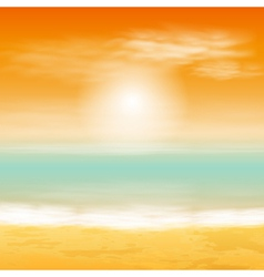 Baech sunset background vector image