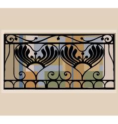 balcony railings vector image