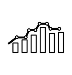 bars statistics isolated icon vector image vector image