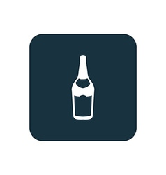beer bottle icon Rounded squares button vector image vector image