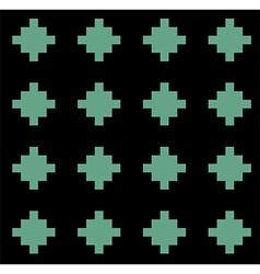 Black green rural geometric ornament pattern vector
