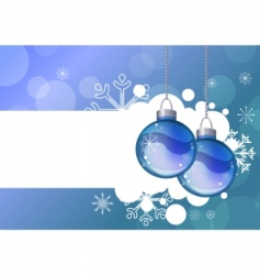 blue background with hanging balls vector image vector image
