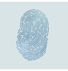 Blue touch fingerprint id app with shadows vector image vector image